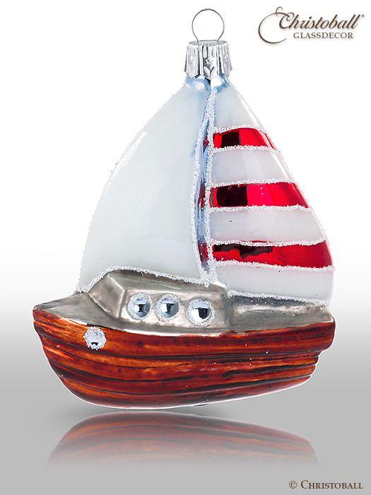 Weihnachtsform Segelschiff