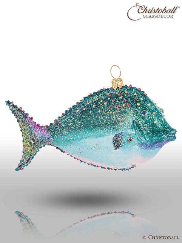 Weihnachtsform - Tropischer Fisch Smaragd-Edition mit Swarovski-Kristallen