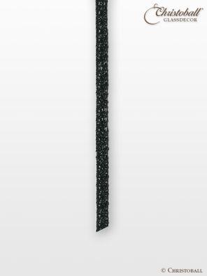 Lurexband, 3mm breit, Schwarz