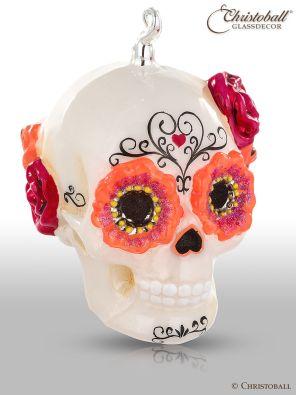 Weihnachtskugel Schädel Skull