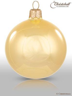 Weihnachtskugel Pure Colour M Gold Spiegelglanz