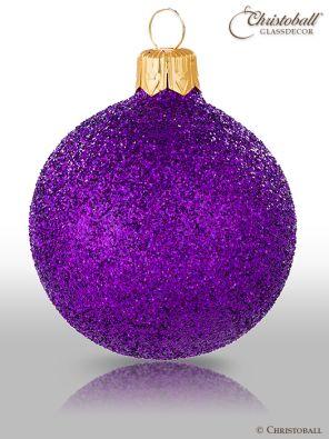 weihnachtskugel Hologramm Crazy Purple Lila