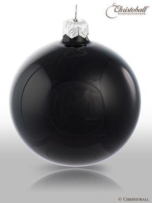 Pure Colour M Weihnachtskugel glanz Schwarz
