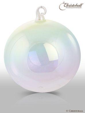 Pure Colour Weihnachtskugel XL Irisierend transparent