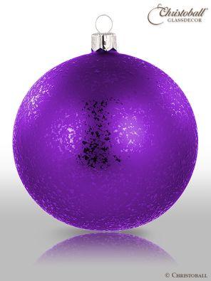 Speckle Gleam Weihnachtskugel Purple Royal Lila