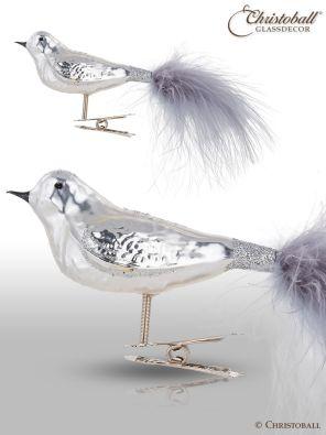 Vogel mit Clip 1 Stk. / Silber