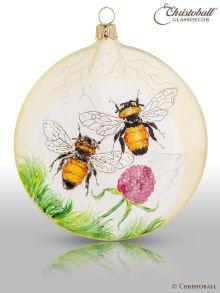 Christbaumkugel Medallion Bienen