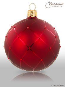 Coco´s Elegance Christbaumkugeln mit Swarovski-Kristallen Bordeaux