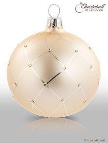 Coco´s Elegance Christbaumkugeln mit Swarovski-Kristallen - Champagne
