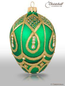 Weihnachtsform Ei a la Faberge Gruen