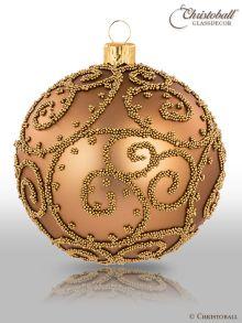 Eleganza Weihnachtskugel L Azteken-Goldbraun