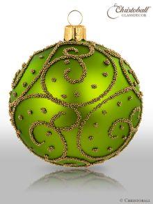 Eleganza Weihnachtskugel L Mai-Grün