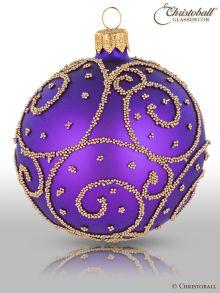 Eleganza Weihnachtskugel L Royal-Blau