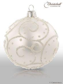 Eleganza Weihnachtskugel L Perlenschimmer-Weiss