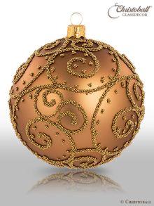 Eleganza Weihnachtskugel XL Azteken Goldbraun
