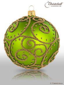 Eleganza Weihnachtskugel XL Mai-Grün