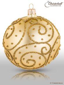 Eleganza Weihnachtskugel XL Hell-Gold