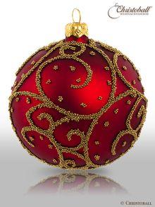 Eleganza-Weihnachtskugel-L-Bordeaux-Rot