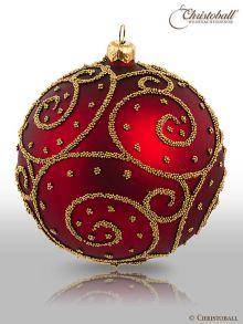 Eleganza Weihnachtskugel XL Bordeaux-Rot
