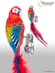 Vogel Papagei Ara mit Clip