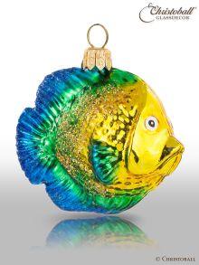 Weihnachtskugeln Fische gold-grün