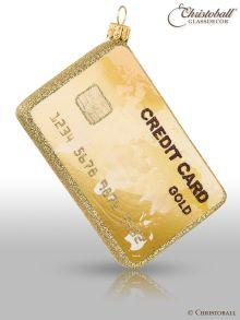 Christoball  Weihnachtsform Goldene Kreditkarte