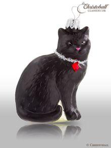 größere Formen - Schwarze Katze mit Swarovski