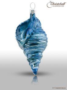 Weihnachtsform - Dunkel-Blaue Muschel