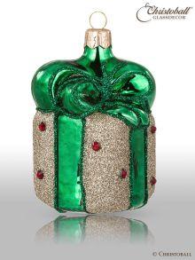 Weihnachtsform - Geschenk Gold-Grün