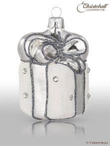 Weihnachtsform - Geschenk Weiss-Silber