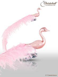 Rosa-Schwan L Gross, Vogel mit Clip