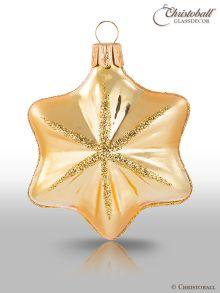 Weihnachtskugel Sternchen Gold
