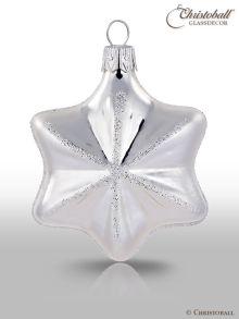 Weihnachtskugel Sternchen Silber