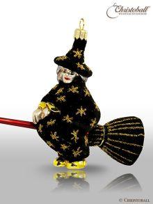 größere Formen Weihnachtskugel Hexe Schwarz