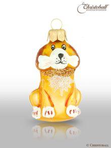 kleinere Formen Weihnachtskugel Hund Gold
