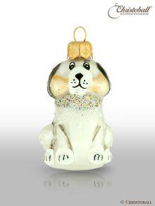 kleinere Formen Weihnachtskugel Hund Silber