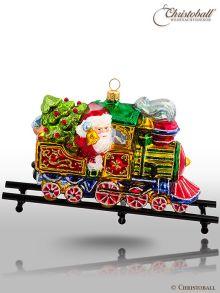 Christoball  Premium - Weihnachtsmann in Lokomotive