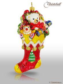 Christoball Premium Christbaumkugel Strumpf mit Geschenken