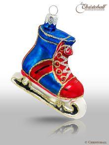 mittlere Formen Weihnachtskugel Eishockey-Schlittschuh