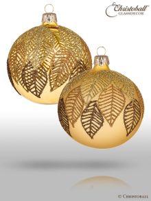 Falling Leaves Christbaumkugeln - Gold
