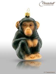 Weihnachtsform - Junger Schimpanse