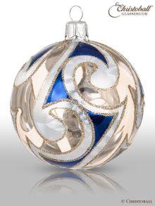 Frosted Ornament Weihnachtskugel, Blau, (1 Stück) - SALE -
