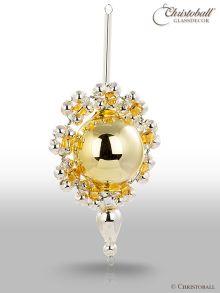 Gablonzer Anhänger Perlen-Kugel