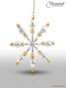 Gablonzer Anhänger Lampion silber gold
