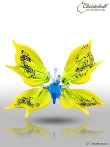 Vollglas-Vogel: Kolibri Gelb, Braun, Schwarz