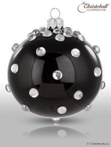 Glanzstück Blob Weihnachtskugeln Schwarz-Silber
