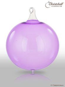 Glas-Kugel transparent mit Glashaken L - Veilchen Lila