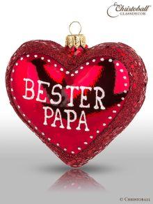 "Christbaumkugel Herz ""Bester Papa"""