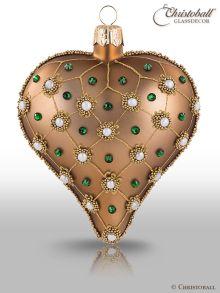 Christbaumkugel Herz Prächtig und Pompös Azteke