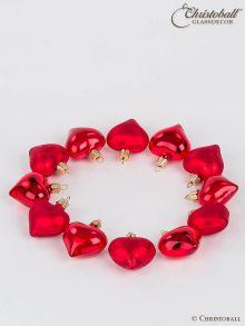 Weihnachtskugeln Herzchen rot